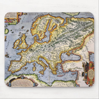 Vintage Mediterranean European Map Art Collection Mouse Pad
