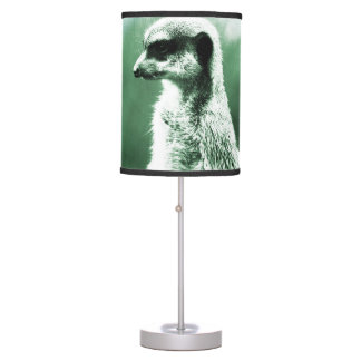 Vintage, meerkat divertido lámpara de mesilla de noche