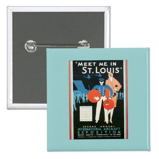 Vintage Meet Me In St.Louis Pinback Button