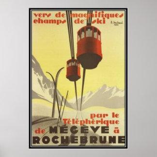 Vintage Mégève Rhône Alpes Francia - Impresiones