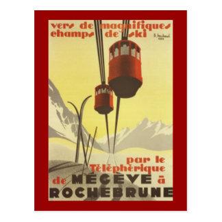 Vintage Mégève, Rhône Alpes, Francia - Postales