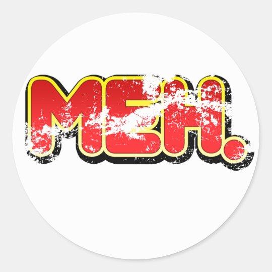 Vintage Meh Sticker
