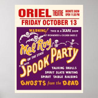 Vintage Mel Roy Spook Show Poster