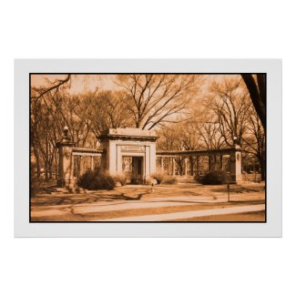 vintage Memorial Arch Oberlin OH print