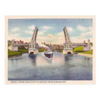 Vintage Memorial Bridge Postcard