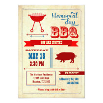 Vintage Memorial Day BBQ Invitation