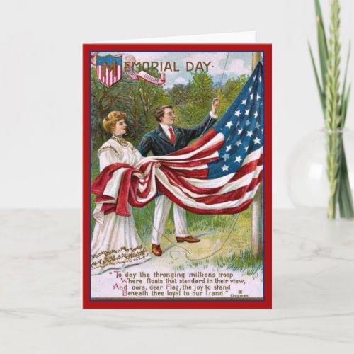 Vintage Memorial Day Greeting Card