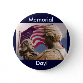 Vintage Memorial Day Homecoming Button button