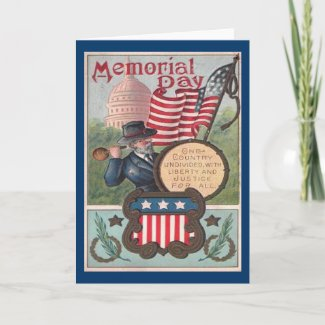 Vintage Memorial Day - One Country card