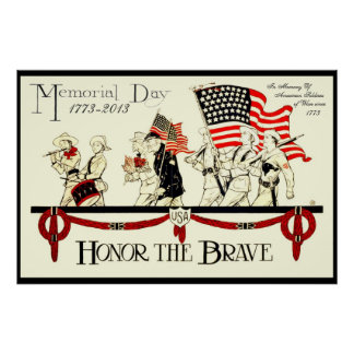 vintage memorial day poster CUSTOMIZE FROM 8.99