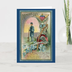 Vintage Memorial Day Tribute Greeting Cards