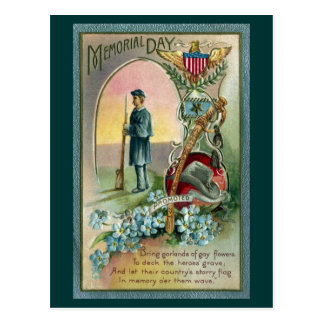 Vintage Memorial Day Tribute Postcard