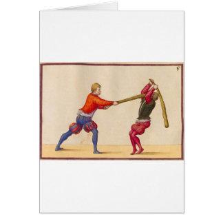 Vintage Men Fighting Card