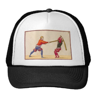 Vintage Men Fighting Trucker Hat