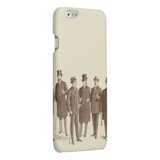 Vintage Men Gentlemen Fashion Brown Beige Cool Matte iPhone 6 Case