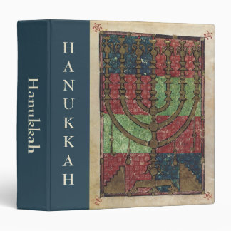 Vintage Menorah, Festival of Lights Happy Hanukkah 3 Ring Binder