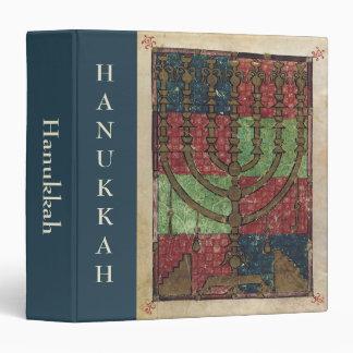 Vintage Menorah, Festival of Lights Happy Hanukkah Vinyl Binders