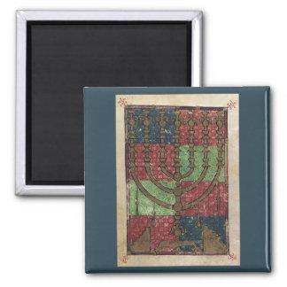 Vintage Menorah, Festival of Lights Happy Hanukkah Magnet