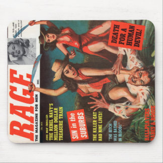 Vintage Men's Action Magazine Mouse Pad