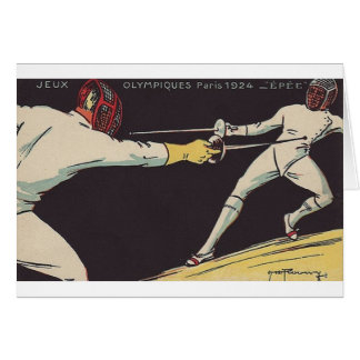 Vintage Men's Epee Fencing Note Card