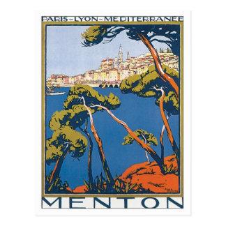Vintage Menton France Postcard