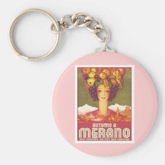Vintage Merano Autunno Basic Round Button Keychain