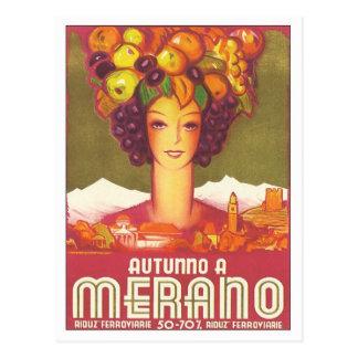 Vintage Merano Autunno Postcard