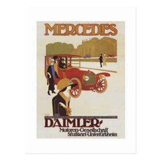 Vintage Mercedes Daimler Ad 2 Postcard