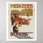 Vintage Mercedes Daimler Ad 2 Poster