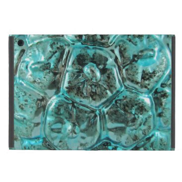 McTiffany Tiffany Aqua Vintage Mercury Art Glass Tiffany Turtle Shell Case For iPad Mini