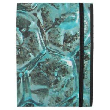 "McTiffany Tiffany Aqua Vintage Mercury Art Glass Tiffany Turtle Shell iPad Pro 12.9"" Case"