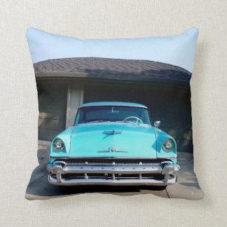 Vintage Mercury Cotton Throw Pillow