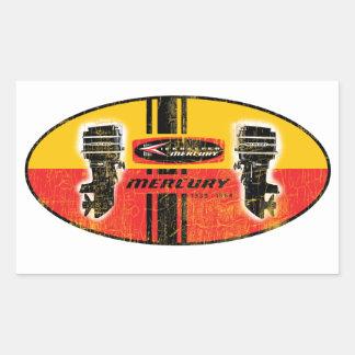 vintage Mercury outboard motors sign Rectangular Sticker