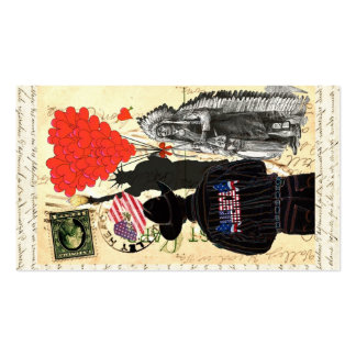 Vintage Merica Double-Sided Standard Business Cards (Pack Of 100)