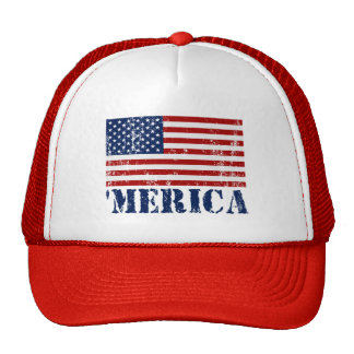 Vintage 'MERICA US Flag Hat