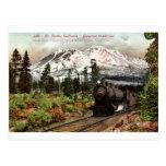 Vintage meridional 1912 del Pacífico Mt. Shasta Postales