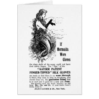 Vintage Mermaid Ad Card