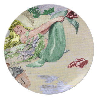 Vintage Mermaid Custom Plate