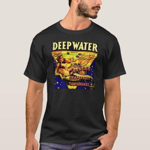 Vintage Mermaid Deep Water Ocean Fishing Label
