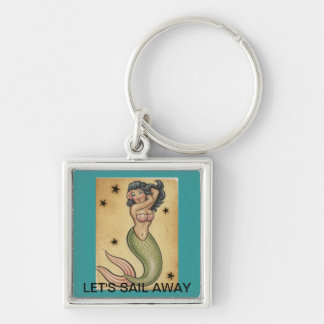 VINTAGE MERMAID DESIGN KEY CHAIN