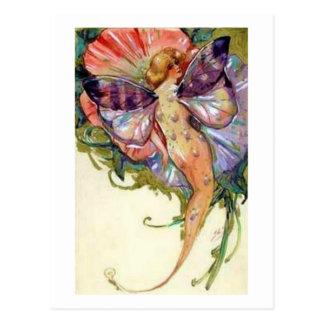 Vintage Mermaid Fairy Postcard