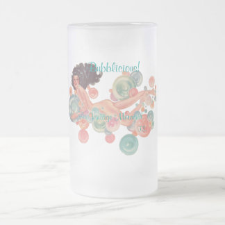 VINTAGE MERMAID FROSTED GLASS MUG