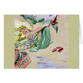 Vintage Mermaid in Color Card
