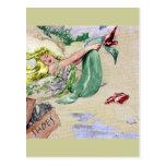 Vintage Mermaid in Color Postcard