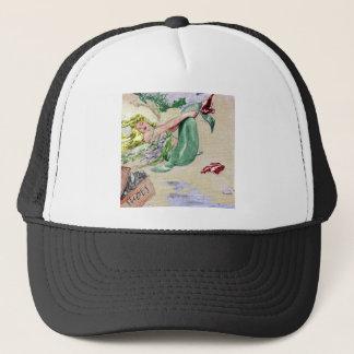 Vintage Mermaid in Color Trucker Hat