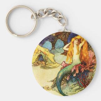 Vintage Mermaid Key Chain