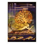 Vintage Mermaid Large Business Card