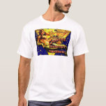 Vintage Mermaid Ocean Fishing Fruit Crate Label T-Shirt
