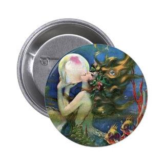 Vintage Mermaid Pearl Fish Art Deco Pin Up Girl