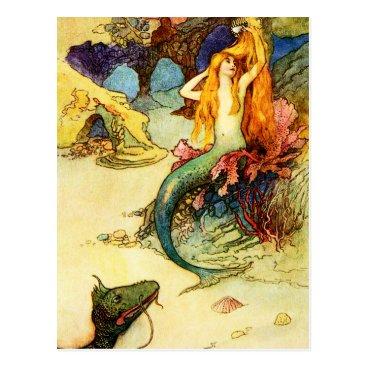 VintageSpot Vintage Mermaid Postcard